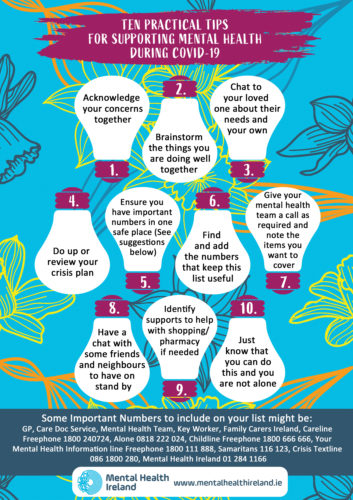 Top Ten Tips for Supporting Mental Health During Covid 19